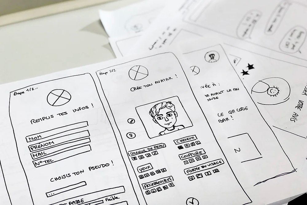 Wireframes: The UX design process