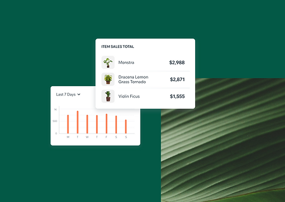 Images showing how you can track sales analytics in the mobile app.
