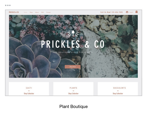 Plant Boutique Template