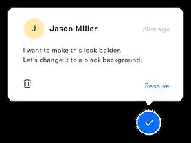 A client's comment about the website design.