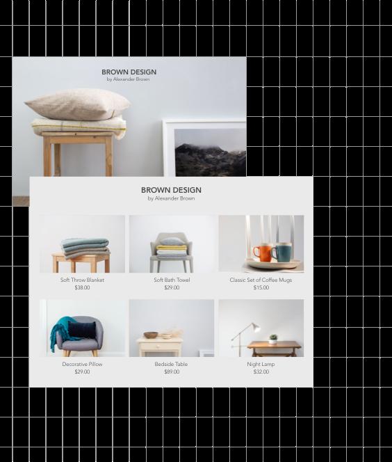 Strona designera i sklep online