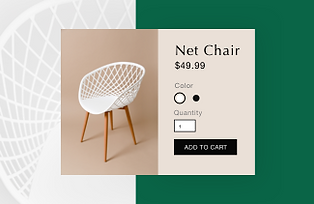 product page for a net chair on a Wix online store
