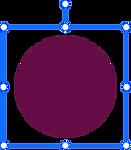 องค์ประกอบการออกแบบวงกลมสีแดงเข้มกำลังถู
