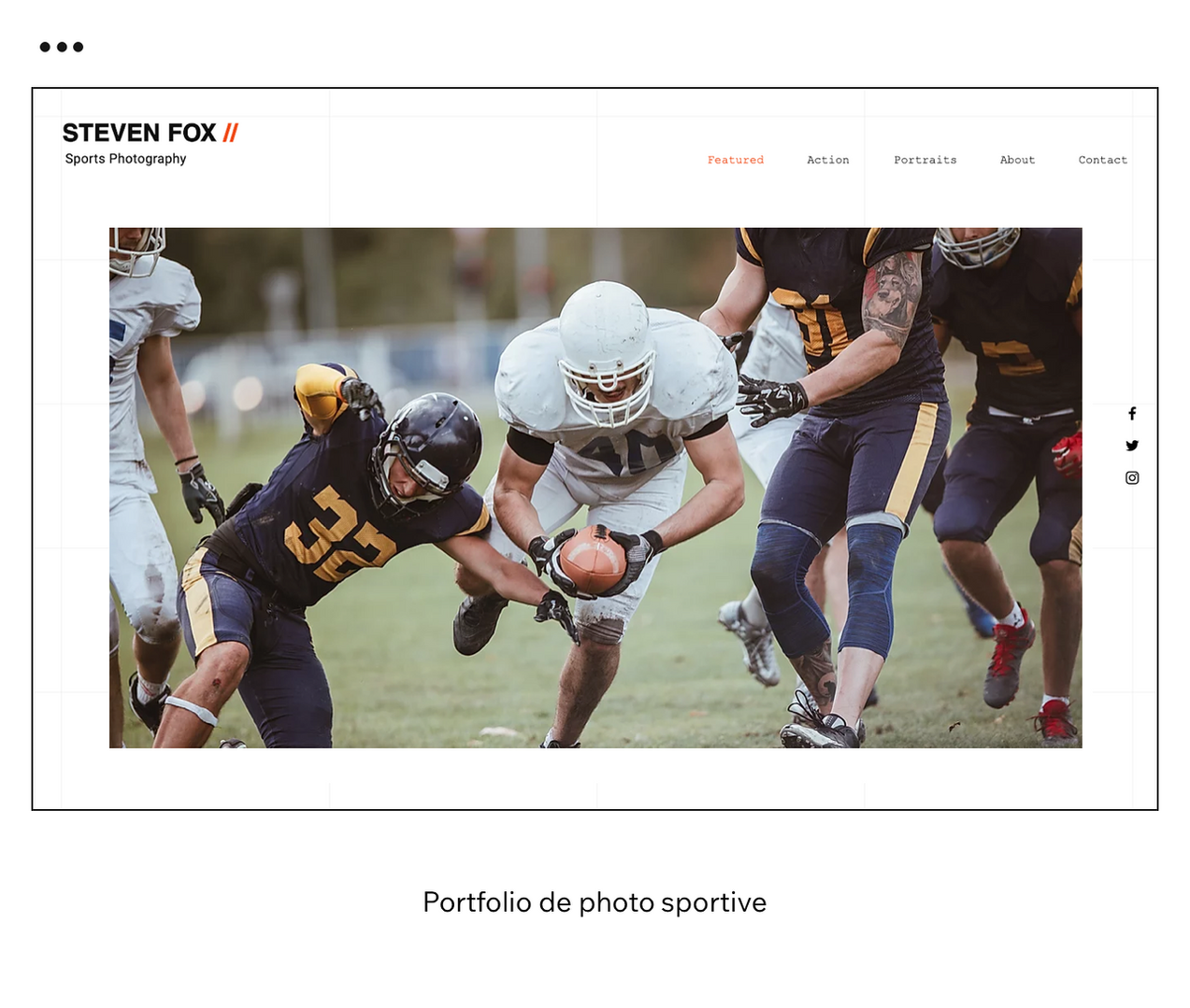 Portfolio de photo sportive