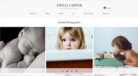 Family Photographer Template