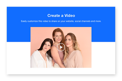 Thumbnail of a video showing 3 girls with long hair.
