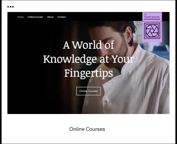 Template de cursos online