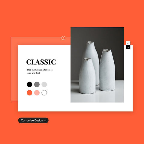 Image of a website theme called Classic.