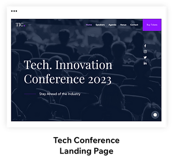 Tech Conference Landing Page Template