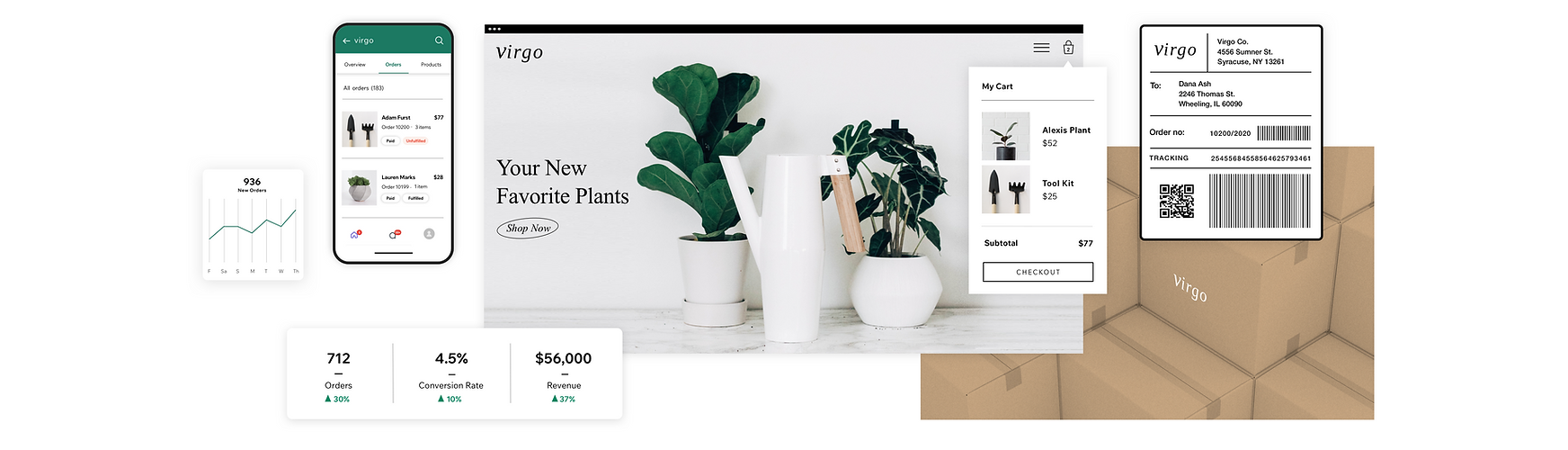 Wix eCommerce tools to manage and track sales, orders and fulfillment