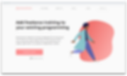 Website homepage with colorful graphic.