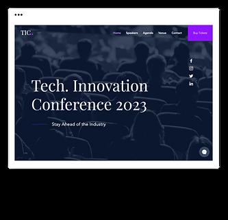 Página de destino para conferencia de t