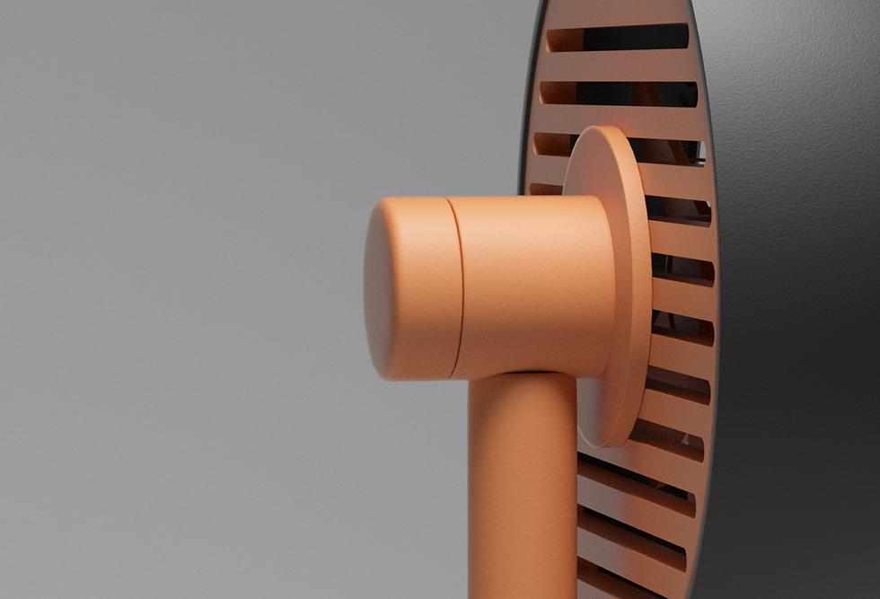 Modern style wooden fan.