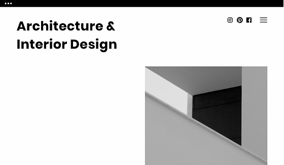 Web homepage for an architect.
