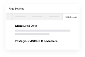 Customizing structured data on your Wix site with JSON-LD code