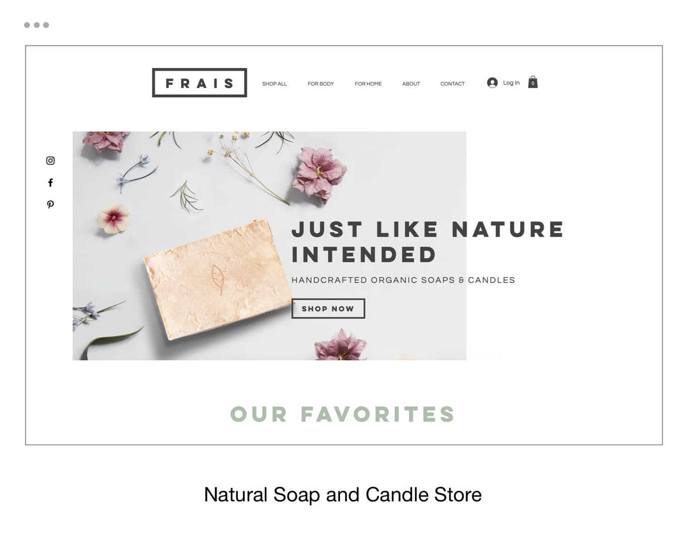 Natural Soap and Candle Store Template