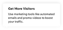 A suggestion provided by Wix Analytics inside a report: use marketing tools to get more website visitors.