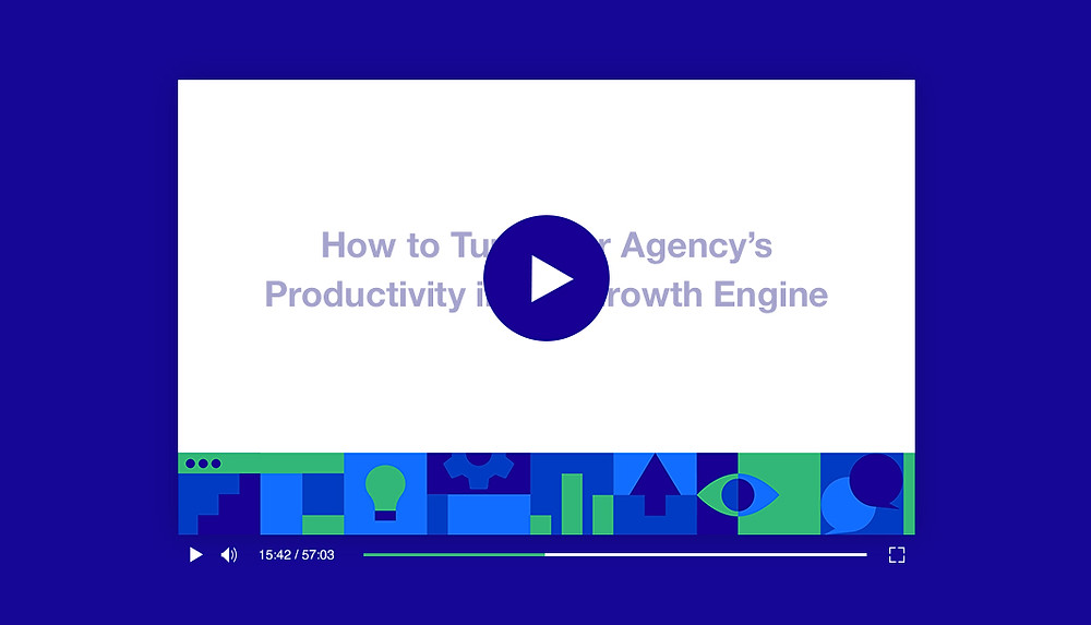 Video player with webinar title