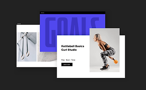 Wix Fitness website featuring class booking