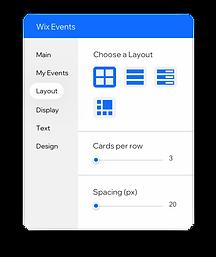 Инструмент, находящийся в редакторе, позволяет вам редактировать способ отображения ваших событий на вашем сайте.