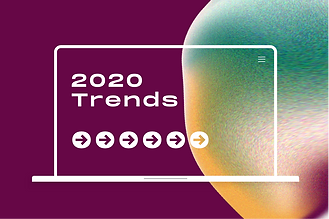 Thumbnail of a blog post that speaks about top design trends. In the image you can see an abstract, gradient bubble.