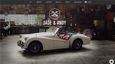 Vintage Car Garage Template