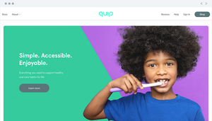 """Quip homepage, """"Simple. Accessible. Enjoyable."""""""