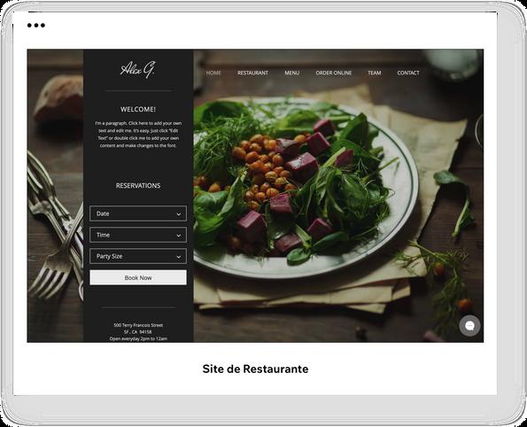 Site de Restaurante
