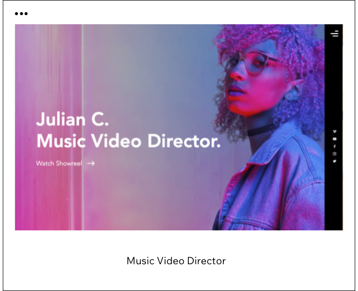Plantilla de director de video musical