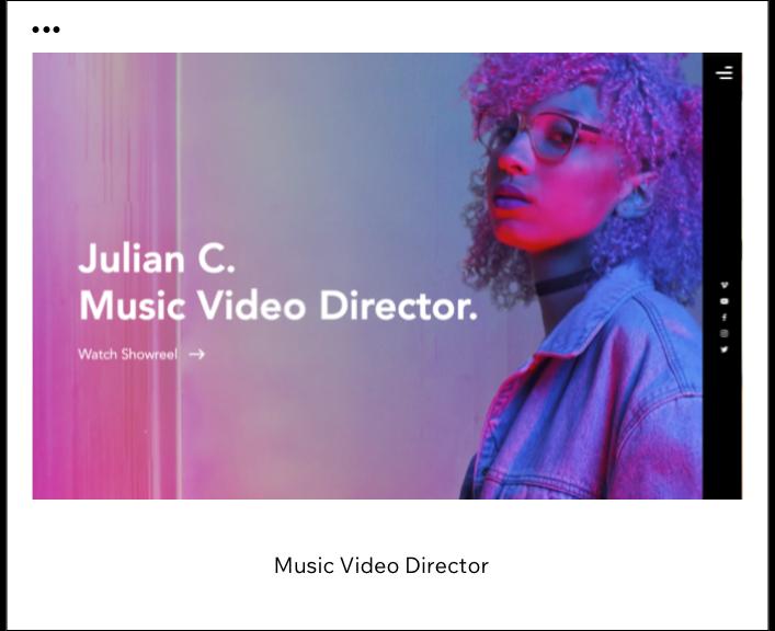 Template videoclipe
