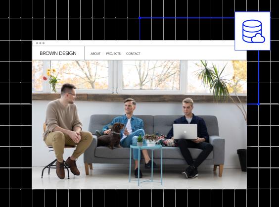 デザイン事務所のホームページのイメージ