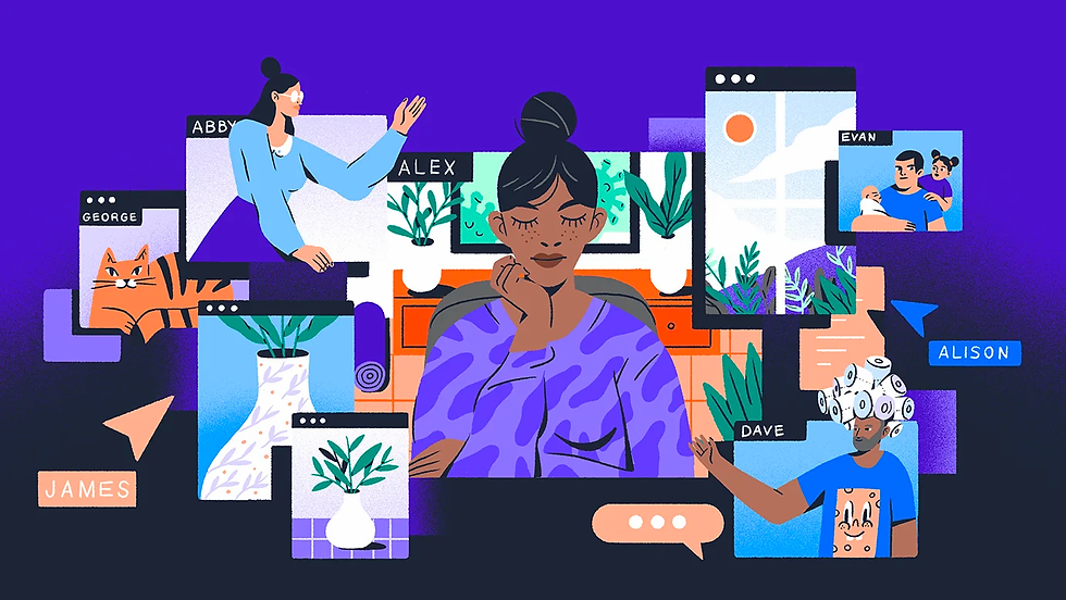 Working from home illustration by Or Yogev