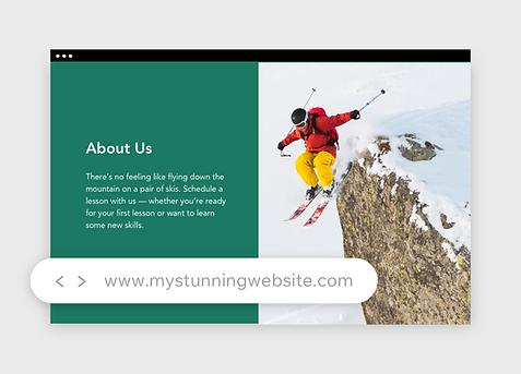 изображение доменного имени для компании по продаже туристического снаряжения