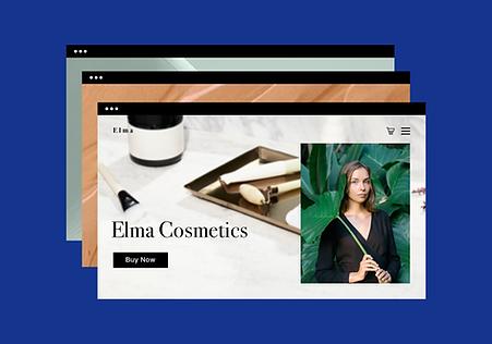 Página web protegida de venta de cosméticos