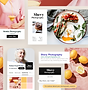 Hjemmeside til madbilleder, der viser væ