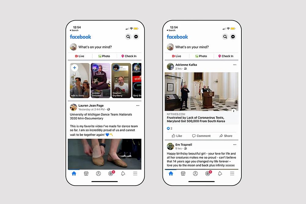 Facebook app redesign using dedesign approach