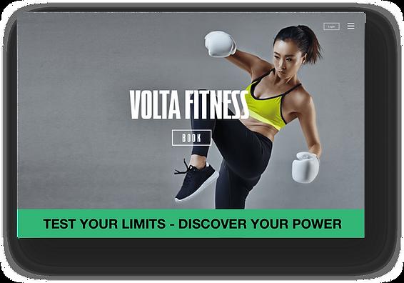 Wix Fitness gym website