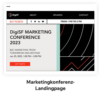 Marketingkonferenz-Landingpage