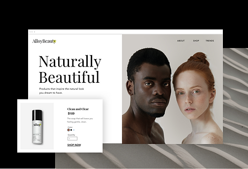A skincare ecommerce site