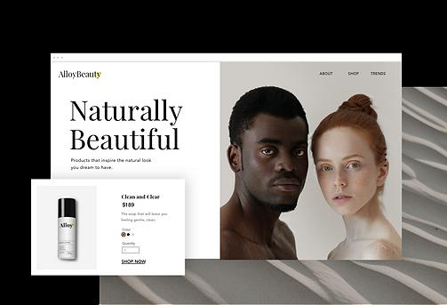 Un site de ecommerce pour les soins de la peau