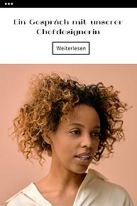 Vorlage einer E-Mail-Kampagne mit dem Porträt einer afroamerikanischen Frau.