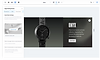 Luxury watch website being designed on Editor X. Pages panel is open and social share settings are being customized
