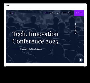 Tech-Konferenz Landingpage