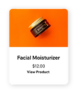 Image of facial moisturizer being sold on a Wix site.