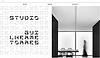 Website thumbnail for designer Guilherme Torres' portfolio. Graphic typography and a black and white image of a blurred woman walking across a dining room cover the homepage.
