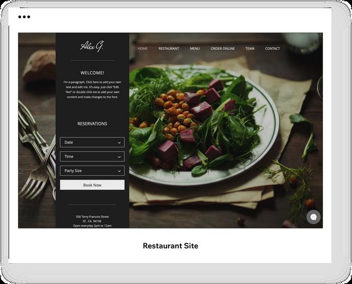 Restaurant-hjemmeside