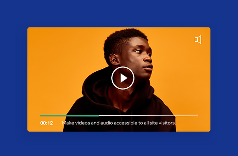 Wix Video player featuring subtitles for hearing impaired viewers.