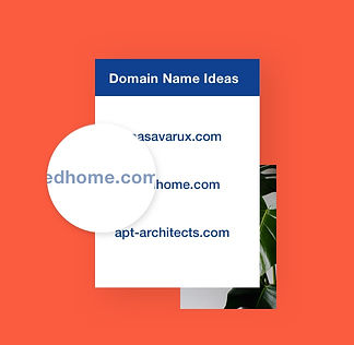 Personalized business domain name ideas.