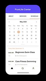 Obrazek kalendarza rezerwacji wbudowanego w stronę internetową Wix Bookings.