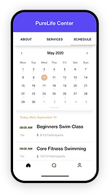 Image of the the Booking Calendar that c